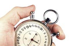 отметчик времени изолированный рукой Стоковое фото RF