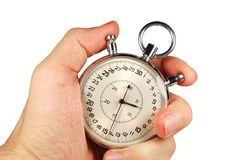 отметчик времени руки Стоковая Фотография