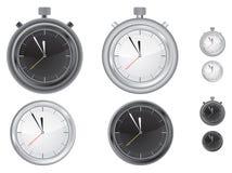 отметчик времени часов иллюстрация вектора