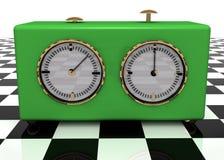 отметчик времени шахмат Стоковое Изображение