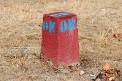 Отметьте камень в траве Стоковая Фотография RF