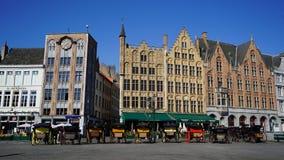 Отметьте квадрат, Брюгге, Бельгию стоковое фото