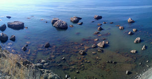 Отмелая морская панорама зон Стоковое Изображение RF