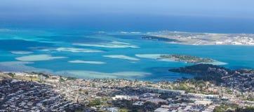 Отмель залива Kaneohe Стоковые Фотографии RF