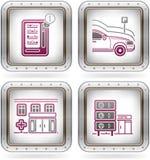 отнесенные иконы гостиницы Стоковая Фотография RF
