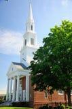 Относящаяся к конгрегации церковь Новая Англия Стоковое фото RF
