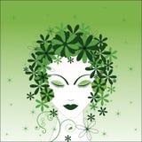 относящая к окружающей среде женщина Стоковое Изображение RF
