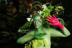 относящая к окружающей среде картина зеленого цвета стороны Стоковое фото RF