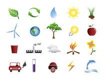 относящие к окружающей среде иконы Стоковое Изображение RF
