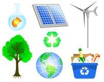 относящие к окружающей среде иконы Стоковая Фотография RF