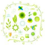 относящие к окружающей среде иконы Стоковое фото RF