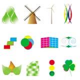 Относящие к окружающей среде схематические логосы стоковые фотографии rf