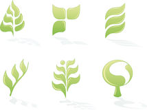 относящие к окружающей среде установленные логосы Стоковое Изображение