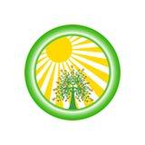 относящий к окружающей среде вектор логоса Стоковое фото RF