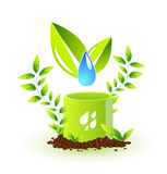 относящий к окружающей среде символ Стоковые Изображения RF