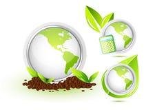 относящий к окружающей среде символ Стоковое Изображение RF