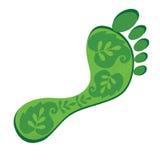 относящий к окружающей среде след ноги Стоковое Изображение RF