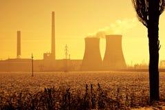 относящое к окружающей среде загрязнение индустрии Стоковая Фотография