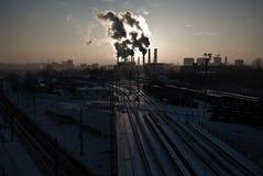 относящое к окружающей среде загрязнение стоковое фото