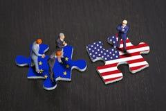 Отношения между Европой и США Стоковое Изображение RF