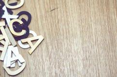 Отображайте концепция, предпосылка ретро взгляда деревянная и алфавитное слово Стоковое Изображение