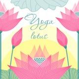 Отображайте для лотоса студий йоги на предпосылке Стоковое Изображение