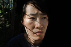 Отожмите женщину в клетке с светом Стоковая Фотография RF