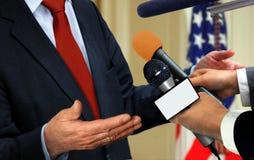 Отожмите интервью Стоковая Фотография RF