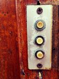 Отожмите кнопки для дверного звонока Стоковая Фотография RF