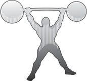 отожмите сильный человек плеча Стоковые Изображения RF