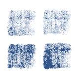 Отпечаток джинсовой ткани Текстура grunge вектора на белой предпосылке Стоковое Изображение