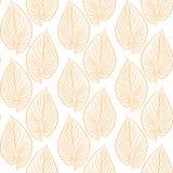 Отпечаток листьев желтого цвета для применения Стоковая Фотография