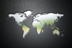 отпечаток карты мира 3d на коже Стоковое Изображение RF