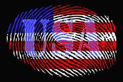 Отпечаток пальцев обозначил США иллюстрация штока