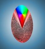 Отпечаток пальцев радуги иллюстрация вектора