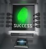 Отпечаток пальцев и концепция безопасностью atm Стоковое Изображение RF