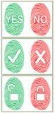 Отпечаток пальцев цвета ` ДА/НИКАКОЕ ` замок Комплект также вектор иллюстрации притяжки corel Стоковые Фотографии RF