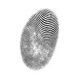 Отпечаток пальцев иллюстрация штока