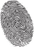 Отпечаток пальцев Стоковое Изображение RF