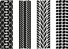 Отпечаток покрышки Стоковое Изображение RF