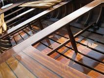 отполированная шлюпка усаживает деревянное Стоковое Изображение