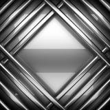 Отполированная предпосылка металла 3d изолировало представленный видео- белый мир иллюстрация вектора