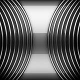 Отполированная предпосылка металла 3d изолировало представленный видео- белый мир Стоковые Фото