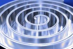 Отполированная спираль металла поле глубины отмелое Стоковые Фотографии RF