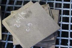 Отполированные этапы металлического листа Стоковые Изображения