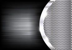 Отполированный стальной металл текстуры в ожидании с backgro конспекта кривой бесплатная иллюстрация