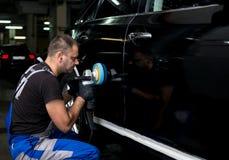 Отполированный черный автомобиль Стоковые Фотографии RF