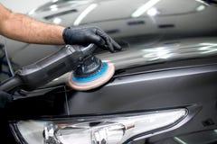 Отполированный черный автомобиль Стоковое фото RF