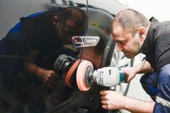 Отполированный черный автомобиль Стоковая Фотография