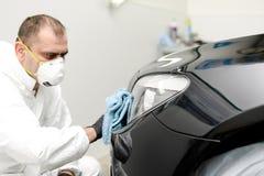 Отполированный черный автомобиль Стоковые Изображения RF